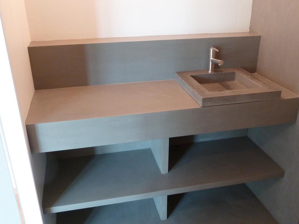Meuble En Béton Ciré meuble cuisine dimension: meubles en beton cire