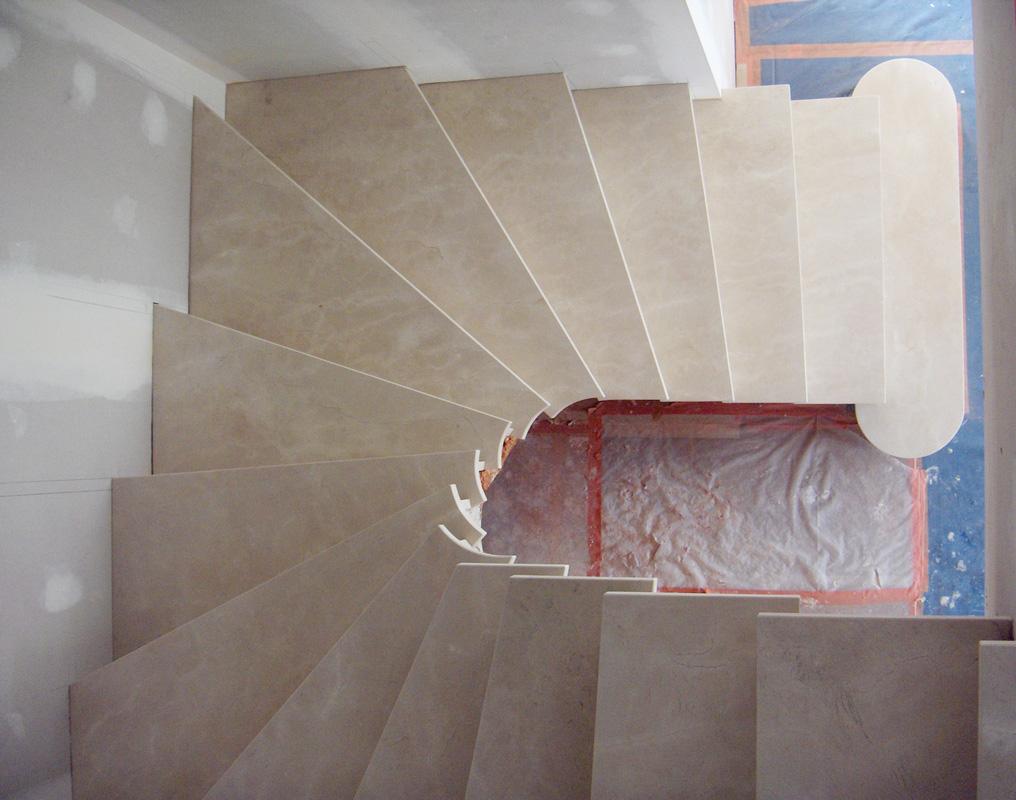 Escalier Sur Vote Sarrasine Marches En Ciment Blanc