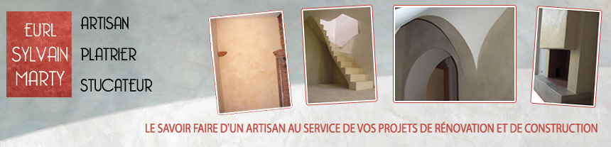 Artisan Platrier : Escalier voute sarrasine, Platre, Chaux, Staff, Tadelakt, Beton cire, Decoration - Sylvain MARTY, Toulouse, Comminges